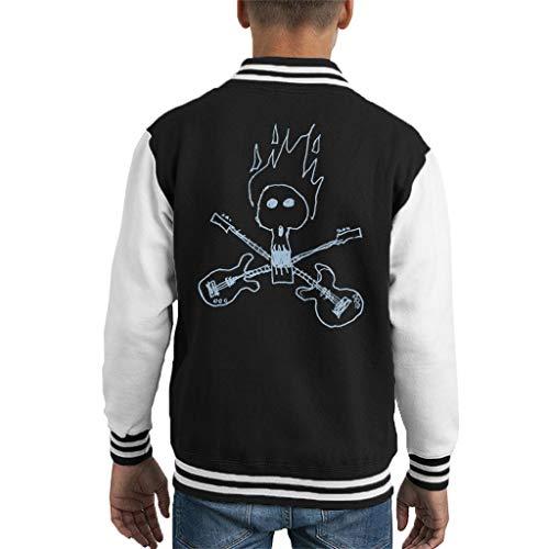 Comics Kingdom Zits Light Guitar Skull Doodle Kid's Varsity Jacket High-school-varsity-jacken