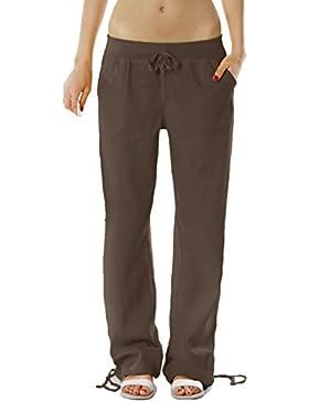 Bestyledberlin - Pantalones de señora, pantalones de lino, pantalones j98a estilo casual femenino