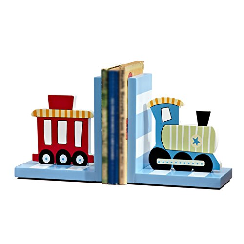 DFHHG® Soporte de libro, libro de dibujos animados de libro de tren de sala de niños por ornamentos de escritorio ornamentos libro soporte de almacenamiento de libro casero creativa durable ( Color : Azul )