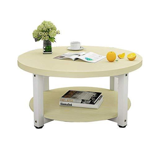 2 Tier Holz Couchtisch Kleine Wohnung Esstisch Bürotisch Wohnzimmer Beistelltisch Kleiner Runder Tisch Zwei Größen, B-T, c, 50×45cm