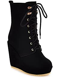 MEI&S Mujer zapatos de plataforma de fondo plano Martin botas zapatos