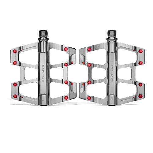 HENGTONGTONGXUN Fahrradpedal, Universal Mountainbike Pedal Plattform Fahrrad Super-Sealed Bearing Aluminiumlegierung Flat Pedal 9/16', hohe Qualität (Color : Silver)