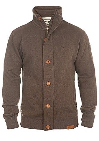 SOLID Tripjacket - Sweat à capuche zippé- Homme, taille:XXL;couleur:Coffee Bean Melange (8973)