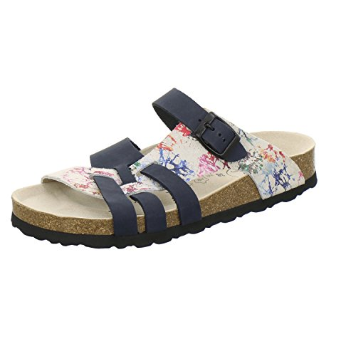 AFS-Schuhe 2122, Modische Damen-Pantoletten, bequeme Hausschuhe Blau