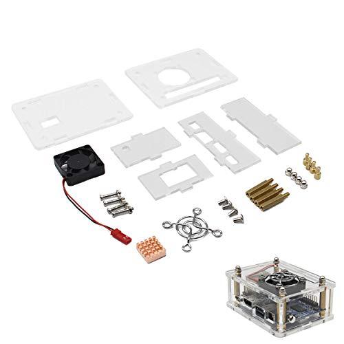 Arcylic Case + Cooling Fan + Heat Sink Kit for Orange Pi One Orange Case Fan