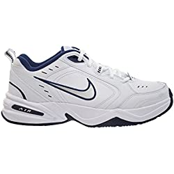 Nike Air Monarch IV Mens' Training Shoes White/Metallic Silver-Mid Navy 415445-102 (8.5 D(M) US), White/Metallic Silver-Mid Navy, 42 D(M) EU/7.5 D(M) UK