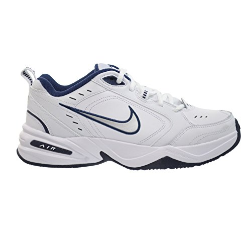Nike Air Monarch IV Mens' Training Shoes White/Metallic Silver-Mid Navy 415445-102 (8.5 D(M) US), White/Metallic Silver-Mid Navy, 42 D(M) EU/7.5 D(M) UK