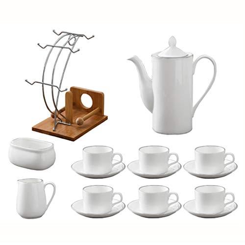 LiuJF Ensemble de thé de bureau, un ensemble de céramiques Bar Ensemble de thé Ensemble de réception de bureau Ensemble de thé Après-midi Thé Ensemble de thé Exquis (Couleur : A)