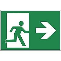 'Panneau sortie de secours–Exit Plaque de mousse rigide en PVC 300x 200mm–Droite 3mm d'épaisseur