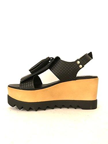 Herren Sandalen, schwarz - schwarz - Größe: 41 Zeta Shoes