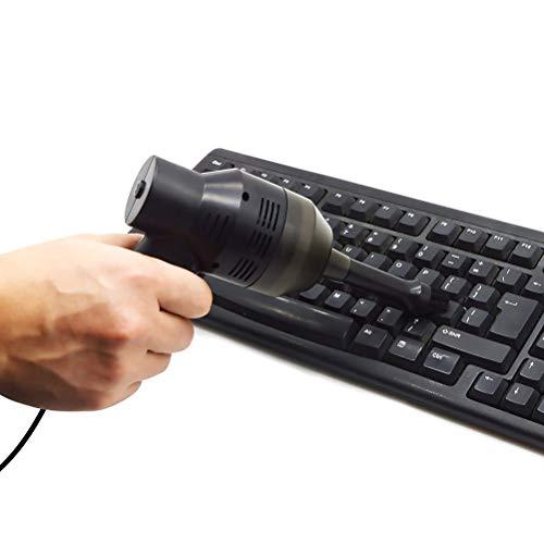EqWong Handstaubsauger Akku Beutellos, USB Tastatur Staubsauger Kabellos, Wiederaufladbarer Handsauger für das Auto zu Hause Nass & Trocken Schminktasche der Laptop-Tastatur - Trocken-shop Vakuum