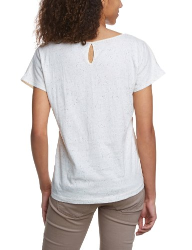 Vero Moda - Maglietta, collo rotondo, manica corta, donna Bianco/Rosa
