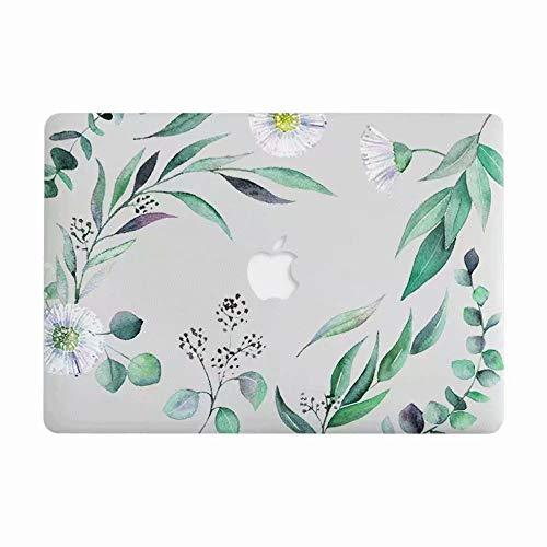 AQYLQ MacBook Schutzhülle/Hard Case Cover Laptop Hülle [Für MacBook Air 11 Zoll: A1370/A1465], Plastik Matt Gummierte Hartschale Schutzhülle, grünes Blatt (Macbook Air 11in Cover)