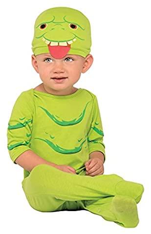 Ghostbusters Slimer Costume - Ghostbusters Slimer Onesie Baby Costume Size 0-6