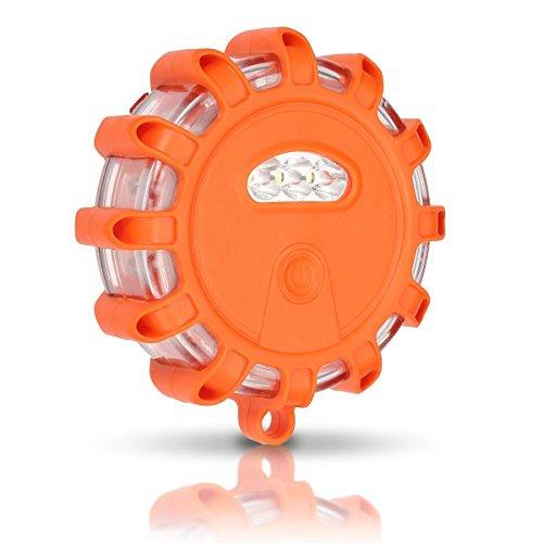 Preisvergleich Produktbild AMBOTHER Warnleuchte Rundumleuchte LED Batterie Warnlicht Warnblinkleuchte mit Magnet 10 Leuchtmodi Sicherheitsbeleuchtung für Notfall Pannenhilfe 5W 150 Lumen (orange)