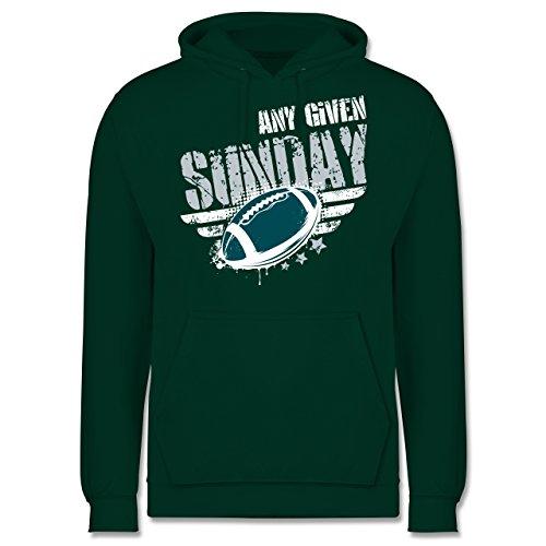 Shirtracer American Football - Any Given Sunday Football Philadelphia - 3XL - Dunkelgrün - JH001 - Herren Hoodie