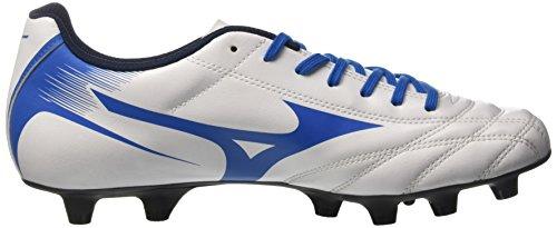 Mizuno Monarcida Neo As Chaussures pour entrainement de football, pour homme, mode mixte, pour adulte, White/Blue
