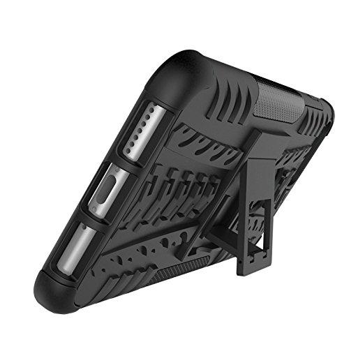 BCIT iPhone 7 Plus Cover - Alta qualità Doppio Strato ibrido Cellulari Case Custodia protettivo Per iPhone 7 Plus - Blu Nero