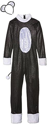 Smiffys Kinder Cool Cat Mädchen Kostüm, Jumpsuit mit Schwanz und Haarreif, Größe: L, 33156 (Kinder Cat Halloween Kostüme)