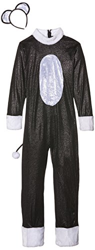 Smiffys Kinder Cool Cat Mädchen Kostüm, Jumpsuit mit Schwanz und Haarreif, Größe: L, 33156 (Katze Kostüm Ideen Für Mädchen)