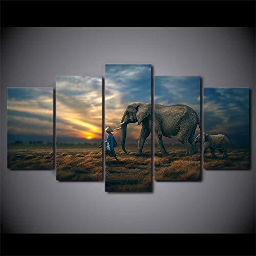 WEPAINT Moderno HD Impreso Wall Art Frame Fotos de Lienzo 5 Piezas...