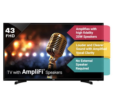 Vu 43 Inches Ultra HD LED Smart TV (43S6575, Black)