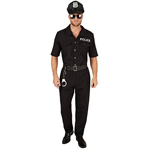 TecTake dressforfun Herrenkostüm Polizist | Uniform inkl. Handschellen und Kunstleder Gürtel (L | Nr. 301436)
