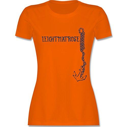 Statement Shirts - Leichtmatrose Anker - tailliertes Premium T-Shirt mit Rundhalsausschnitt für Damen Orange