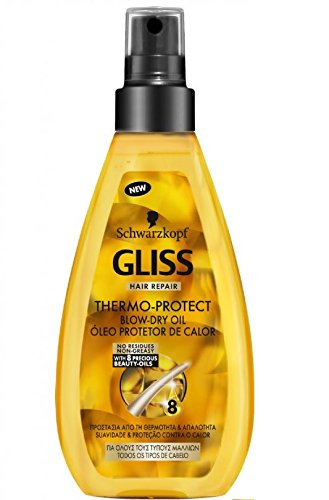 Schwarzkopf Gliss Thermo Protect Hair Oil Spray for Damaged Dry Hair 150ml