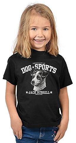 Mädchen-Hunde-Shirt/Girlie- Fun-Shirt mit Dog-Sport Druck: University of Dog Sports Jack
