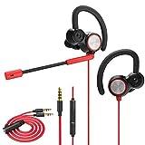 Lauva Gaming-Ohrhörer, kabelgebundenes In-Ear-Headset, Dual-dynamischer Treiber-Kopfhörer mit verstellbarem Mikrofon, Geräuschunterdrückung, für Smartphones/PC / Nintendo