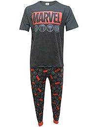 Marvel Comics Hombres Heroes Set de Pijama de Dos Piezas