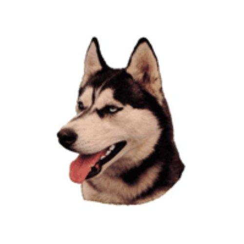 Preisvergleich Produktbild World Stickers Schwandt Heimtierbedarf 12117 Aufkleber 4 Stück ca. 80 x 80 mm für Warnschild Siberian Husky