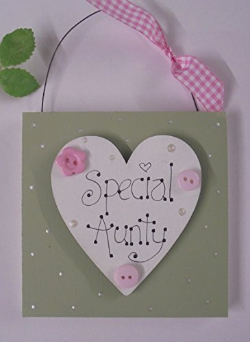 special-aunty-little-wooden-gift-plaque-sign-keepsake-handmade-uk