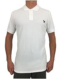 Paul Smith Zebra Badge Regular Fit Short Sleeve Polo Shirt In White