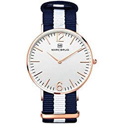 Marc Brüg Men's Minimalist Watch Bali 41 Rosegold
