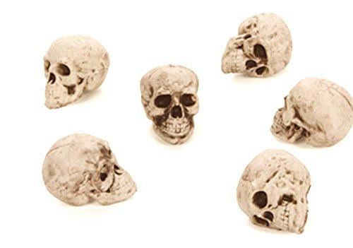 Darice Tasche von 6Totenkopf Köpfe Skelton Dekorationen Halloween Weiß Schwarz