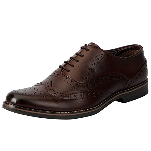 Fausto 3527-42 Brown Men's Formal Brogue Shoes