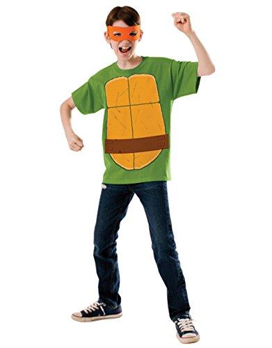 Michelangelo Shirt-Set, Motiv: Teenage Mutant Ninja Turtles-Outfit, groß, für Kinder 8-10 Jahre 4'20.32 cm Höhe - 5'0.00 cm (Kinder Ninja Turtle-outfit)