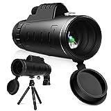 YISSVIC Telescopio Monocular 40 X 60 HD Zoom óptico Telescopio Impermeable y a Prueba de Niebla para la observación de pájaros, Turismo, Caza, Acampada y Concierto