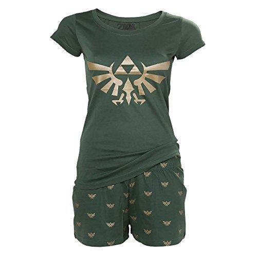 Zelda Hyrule Shorty Pyjama PJ Women Cotton Green - XL by Elbenwald (Pyjama Cotton Green)