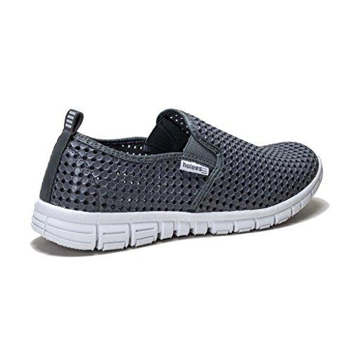 holees original et léger en mousse mémoire pour homme à enfiler Flâneur Chaussures–Différentes tailles et couleurs à choisir Gris