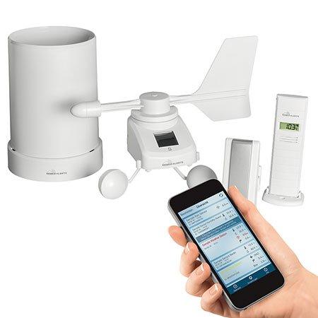 ELV Mobile Alerts Wetterset MA10050 (Temperatur, Luftfeuchte, Regen und Wind), mit App für iOS und Android