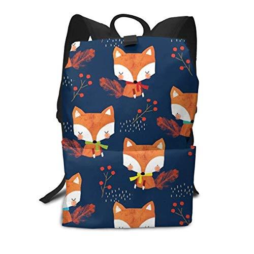 Herbst Fox Rucksack Mitte für Kinder Jugendliche Schule Reisetasche