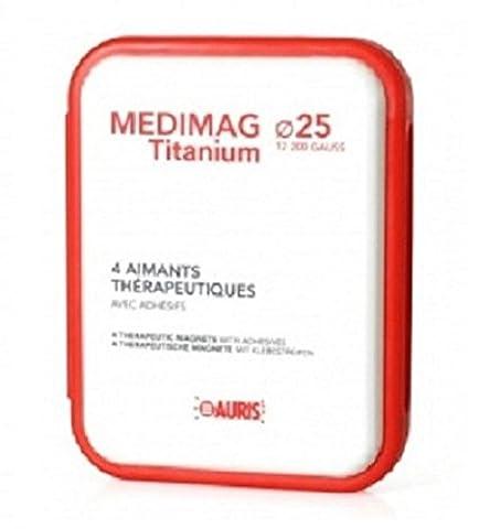 Box Magneten Schmerzen zu lindern - Auris Medimag Titanium Durchmesser 25 mm