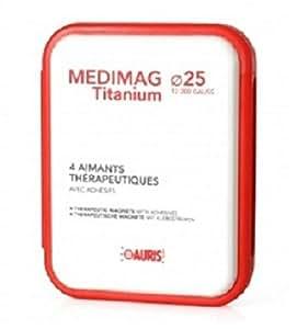 Coffret aimants Médimag Titanium diamètre 25 mm pour soulager douleurs ou gênes