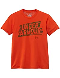 Under Armour Q1 Linier Script T-Shirt manches courtes Garçon