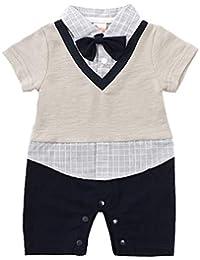 770951e16 ZOEREA Una Pieza Bebé Nino Mamelucos Ropa con Arco Desmontable Recién  Nacido Verano Manga Corta Pelele