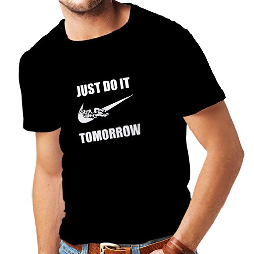 lepni.me Shirts For Men Just Do It Tomorrow - Workout Tops With Funny Sayings, Parody Slogan