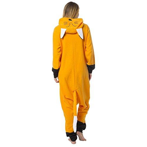 ostüm-Anzug Onesie/Jumpsuit Einteiler Body für Erwachsene Damen Herren als Pyjama oder Schlafanzug Unisex - viele verschiedene Tiere (Fuchs-maske Kostüm)
